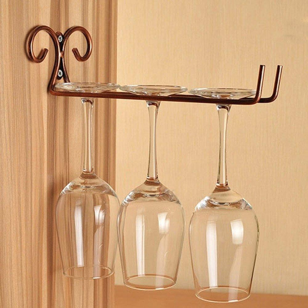 Wall Mounted Wine Glass Rack. 6 Row Under Cupboard Wall Mounted Wine ...