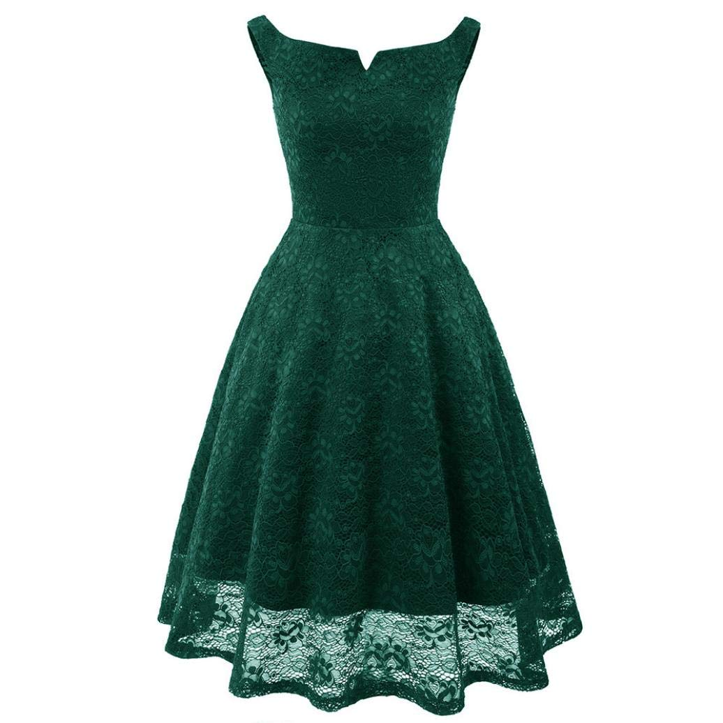 Besde Clearance Fashion Sexy Women Lace Cocktail Dress Vintage Princess Floral Party Aline Dress