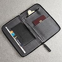 Porta Pasaporte De Piel Negra, Billetera Organizadora De Documentos, Accesorio De Viaje, Regalos Para Hombres Con Monograma, Funda De Pasaporte Personalizado Para Regalo.