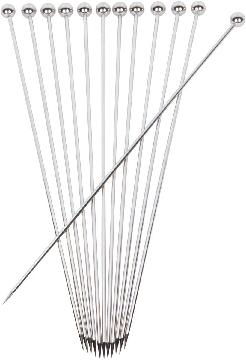 Stainless Steel Cocktail Picks - Extra long 8