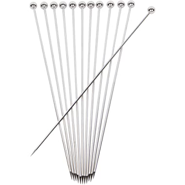 Stainless Steel Cocktail Picks - Extra long 8  (Set of 12)