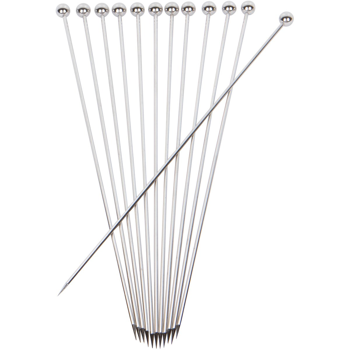Stainless Steel Cocktail Picks - Extra long 8'' (Set of 12)
