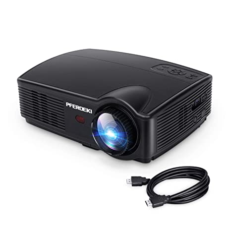 Business Projector, PFERDEKI 4500LM LED 1080p Full HD Office Video  Projector for PowerPoint Presentation with HDMI VGA VA USB for PC  Smartphone