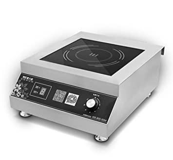 5000w Counter Top Commercial Electric Induction Cooktop/Cooker, Stainless  Steel, Knob Control