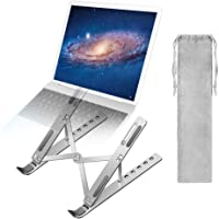 A-TION Laptop Stand, 6-Angles Adjustable Laptop Holder Portable Riser Ergonomic Aluminum Notebook Stand Foldable…