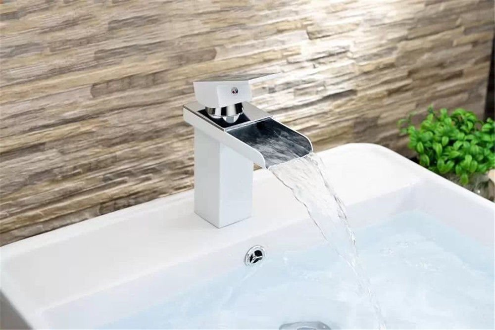 B Gyps Faucet Basin Mixer Tap Waterfall Faucet Antique Bathroom Mixer Bar Mixer Shower Set Tap antique bathroom faucet Single Handle paint basin faucet antioxidant waterfall faucet basin mixer square wh