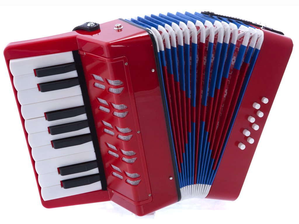 D'Luca G104-BK Kids Piano Accordion 17 Keys 8 Bass, Black Sky Blue Telemarketing Inc. D' Luca