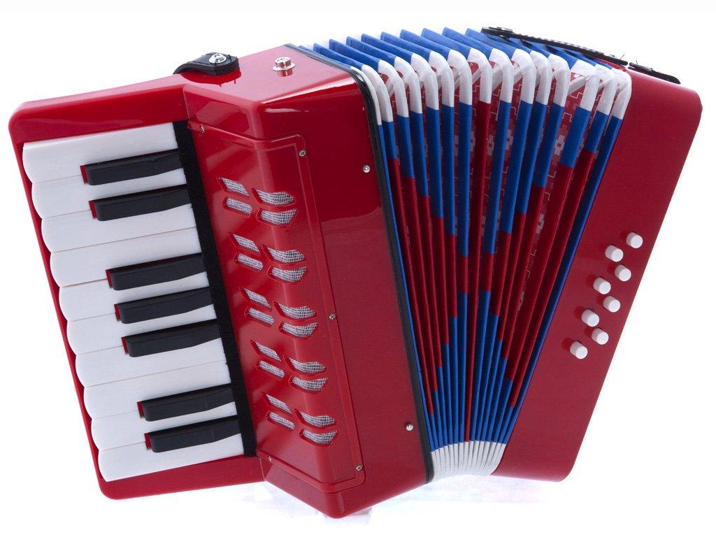 D'Luca G104-BK Kids Piano Accordion 17 Keys 8 Bass, Black Sky Blue Telemarketing Inc. D'Luca