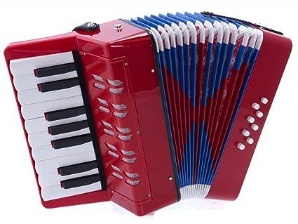 Amazon Dluca G104 Rd Kids Piano Accordion 17 Keys 8 Bass Red