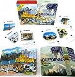 San Francisco and California, Souvenir Playing Cards, Vacation Gift. Card Faces Feature Multiple Landmarks, Ousttanding Tourist Gift. The Two Deck Set Includes a Gold Gift Ribbon