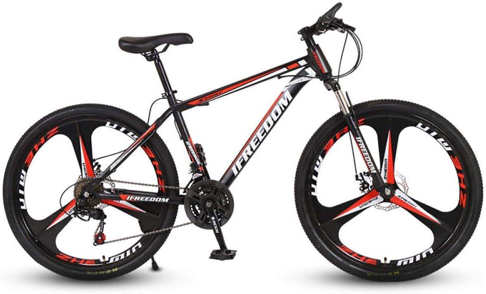 N/AO Mountain Trail Bike Frenos De Doble Disco Bicicleta De Cambio De 26 Pulgadas Bicicleta De Carretera De 21 Velocidades-Negro y Rojo: Amazon.es: Deportes y aire libre