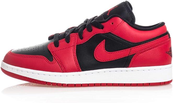 Nike Kids Air Jordan 1 Low GS Reverse Bred Basketball Shoes
