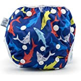 Eco-Friendly Reusable Baby Swim Diapers (Sizes N–5) – Adjustable, Easy-Wash Nageuret Reusable Swim Diaper Boys & Girls…