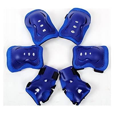 Meta-U 6Pcs/Set Children Skate Protective Gear-2 Elbow Pads+2 Wrist Pads+2 Knee Pads (Blue) : Sports & Outdoors