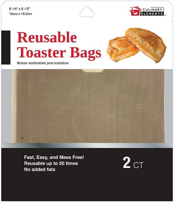 Culinary Elements Toaster & Toaster Oven Grilled Cheese Bags (2 count): 1 pack / 2 reusable bags