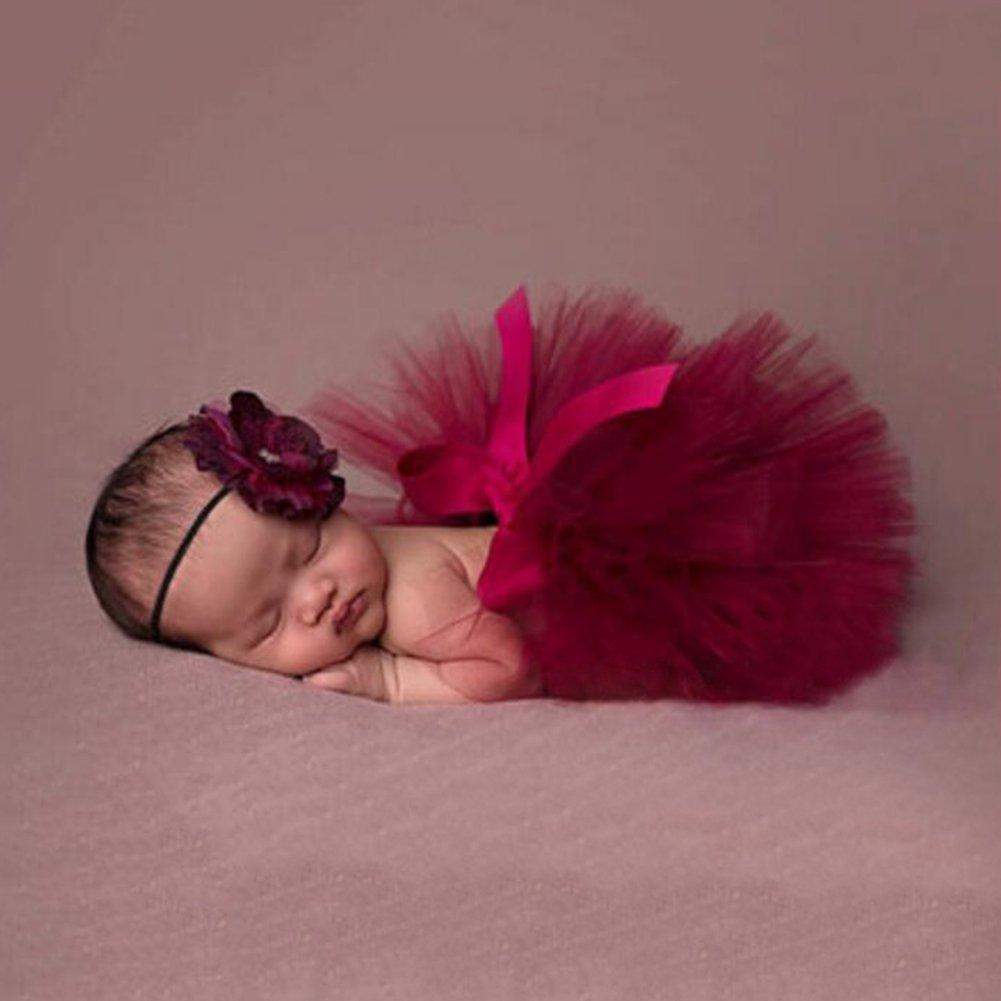 Deylay Moda Unisex reci/én nacida equipos del beb/é apoyos de la fotograf/ía del tocado de la falda del tut/ú