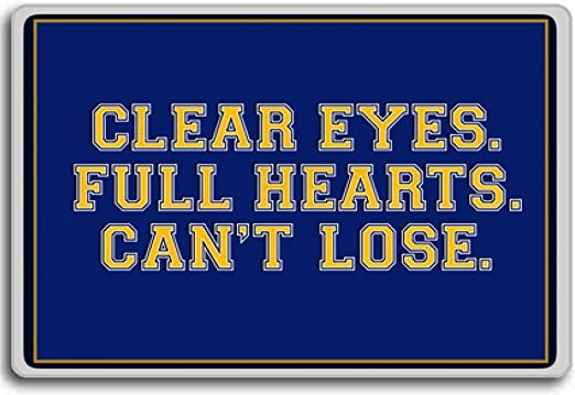 Amazon Com Clear Eyes Full Heart Can T Lose Motivational Inspirational Quotes Fridge Magnet Kitchen Dining