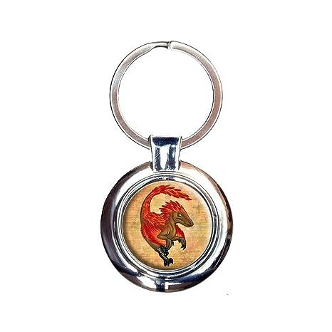 Amazon.com: Vigilantes Velociraptor Llavero Llavero: Office ...