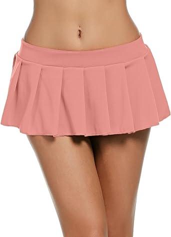Wearella - Mini falda plisada sexy para mujer, diseño de lencería ...