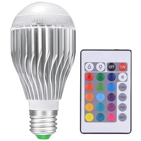 Led Light Bulbs Color Changing Light Bulb Colorful Magic Rgb Bulb 10w For Christmas Lights Home Decor Fits E26 And E27