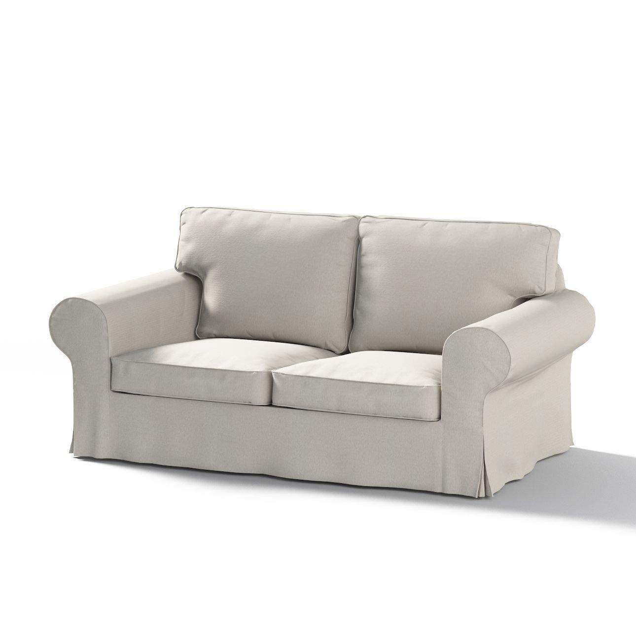 Dekoria Ektorp 2-Sitzer Schlafsofabezug ALTES Modell Sofahusse passend für IKEA Modell Ektorp Biege-grau