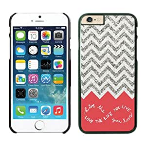 Iphone 6 case,Design For You Colorful Chevron Pattern Live the Life You Love iPhone 6 Cases Black Cover