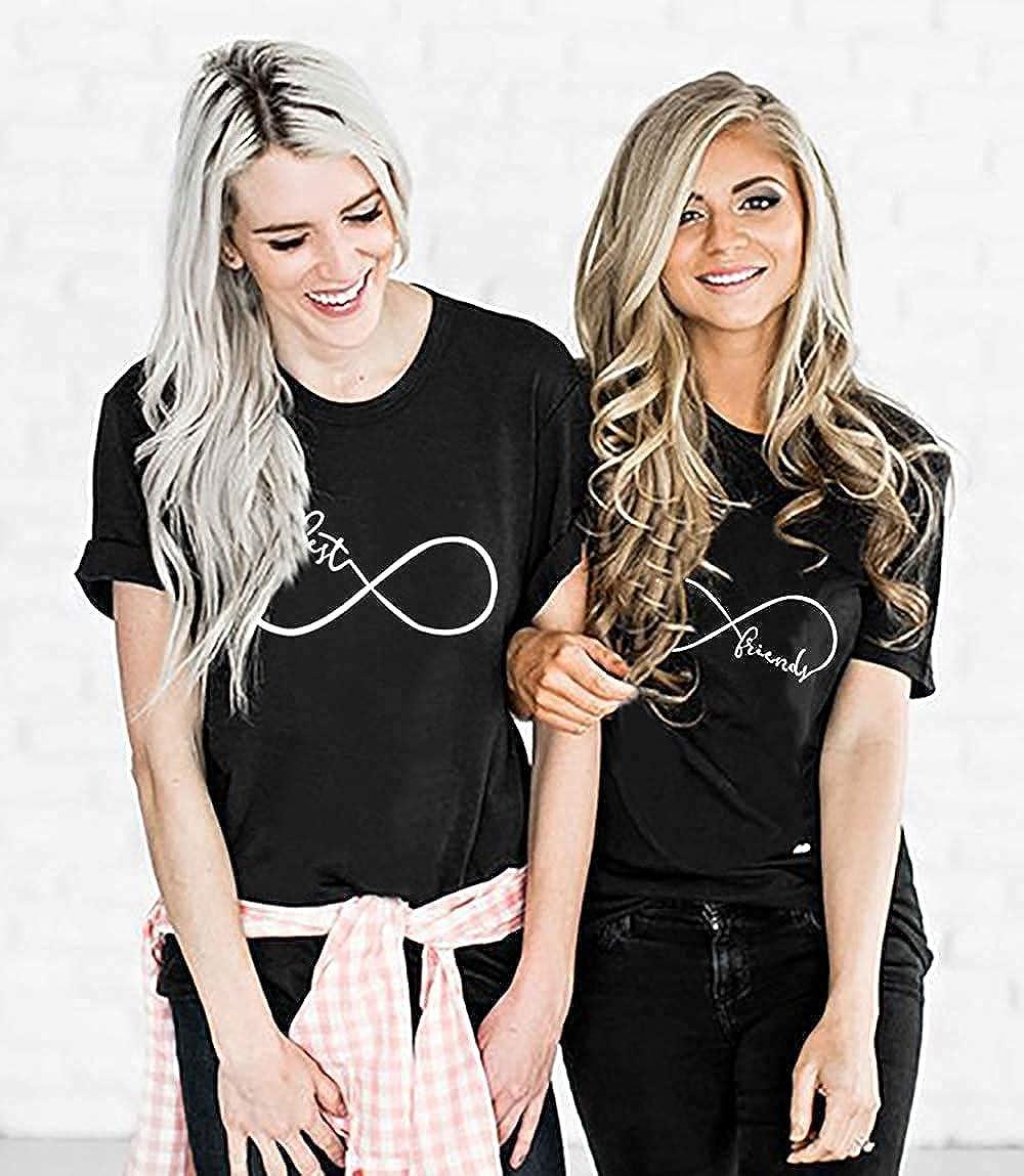 Best Friends BFF Beste Freunde T-Shirt f/ür Zwei M/ädchen Damen Tshirt Sister