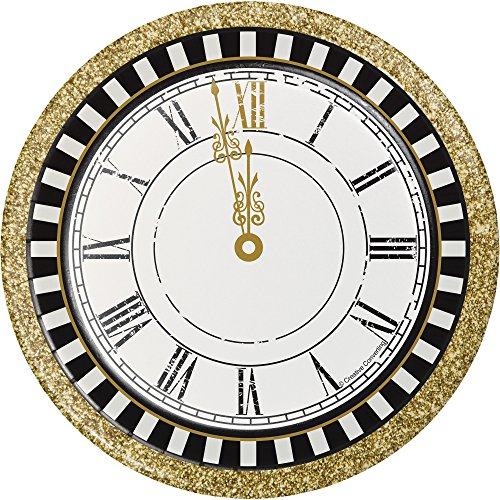 Midnight Celebration 8 ct 7inch Dessert Cake Plates New Years Eve