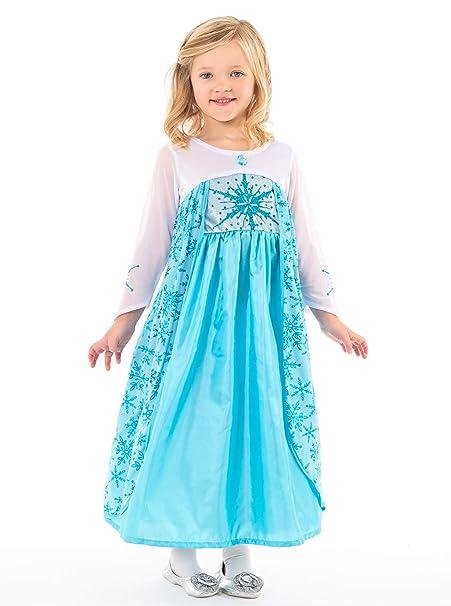 Amazon.com: Disfraz de princesa de hielo para niñas de ...