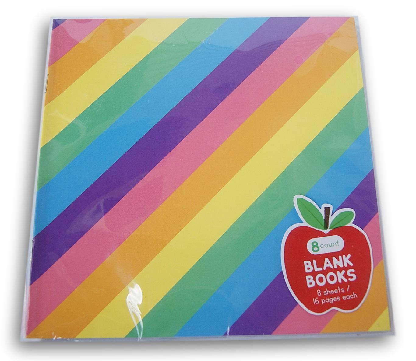 Horizon Group USA Pastel Rainbow Striped Blank Books - 8 Ct by Horizon Group USA
