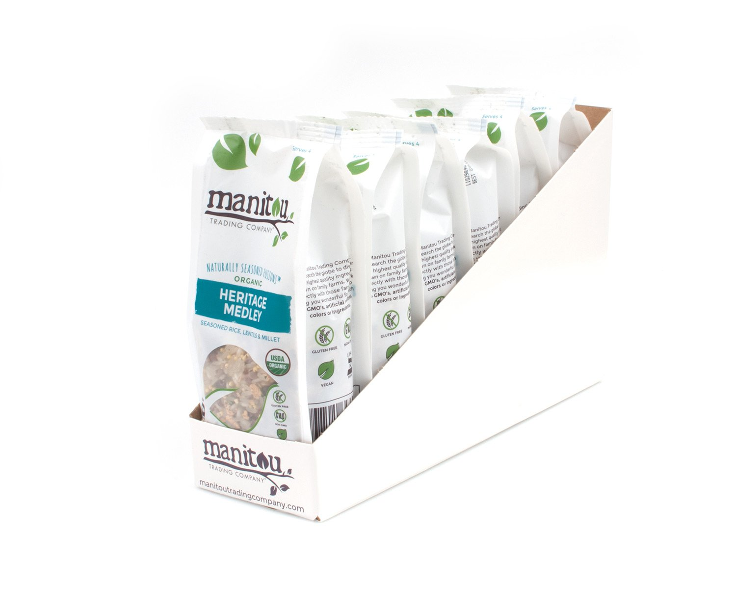 Organic Heritage Medley by Manitou Trading Company, 6/7 Oz Pack Case