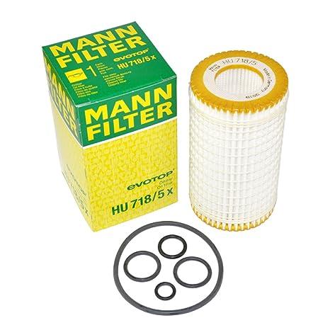 Amazon.com: Mann-Filter HU718/5X - Filtro de aceite de motor ...