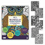 Adult Coloring Mandalas Color-A-Poster 16x20 (18 Coloring Posters included)