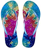 Showaflops Girls' Antimicrobial Shower & Water Sandals for Pool, Beach, Camp and Gym - Tie Dye 2/3