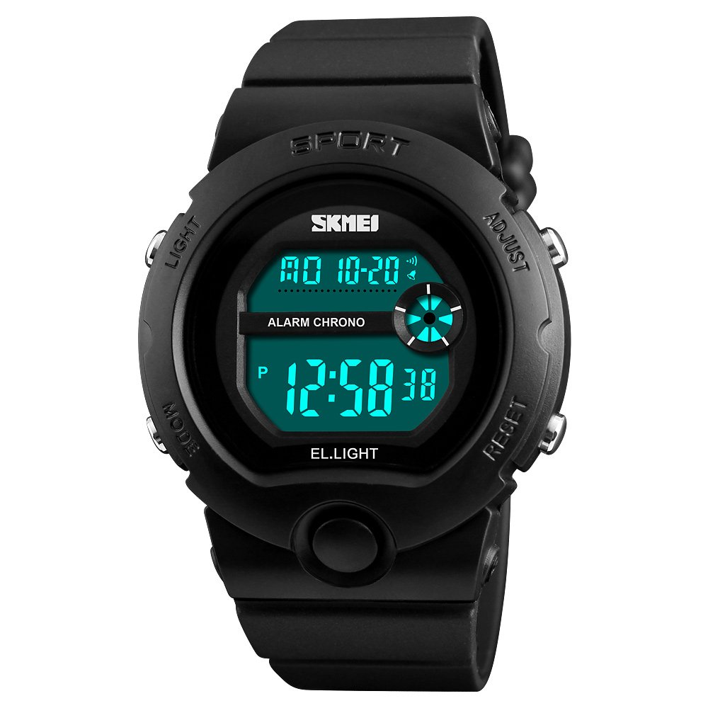 Amazon.com: Trendy Sports Brand Women Shock Water Proof Digital Watch Chrono Alarm Clock Calendar Eletronic Watches (Black): Watches