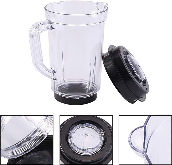 Mezclador de jarra con tapa, licuadora licuadora Piezas de repuesto de plástico sin BPA KitchenAid 1000ML Vaso de leche de agua titular para licuadora adapta original Bullet mágica: Amazon.es: Hogar