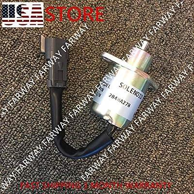 2848A278 Fuel Shutoff Stop Shut Off Solenoid FITS CAT for Skid Steer Perkins 12V: Industrial & Scientific