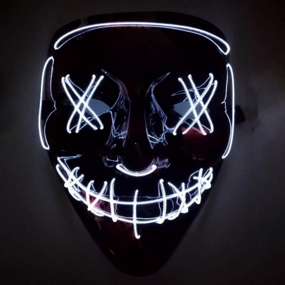 SUNFFFW Máscara De Halloween Led Maske Light Up Party Masks ...