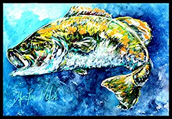 Carolines Treasures Lucy the Crawfish in Blue Indoor or Outdoor Mat 18 x 27 Multicolor