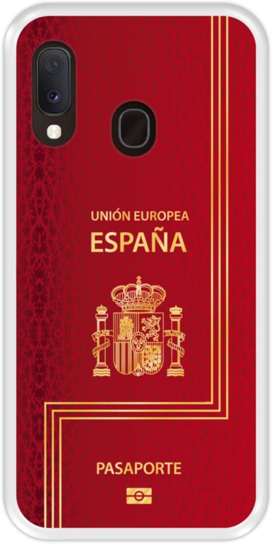Hapdey Funda Transparente para [ Samsung Galaxy A20e ] diseño [ Pasaporte biométrico Español ] Carcasa Silicona Flexible TPU: Amazon.es: Electrónica