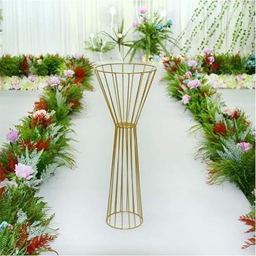 Estante de flores para bodas, elegante columna de flores para ...