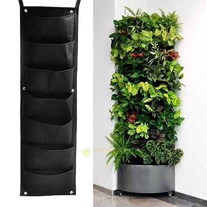 phantomx 7 bolsillo interior y exterior colgar en la pared jardín Vertical maceta hierbas olla decoración