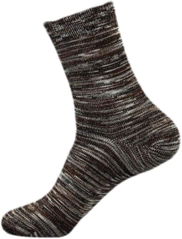 Cromoncent Mens Comfortably 10Pairs Striped Breathable Print Mid Socks
