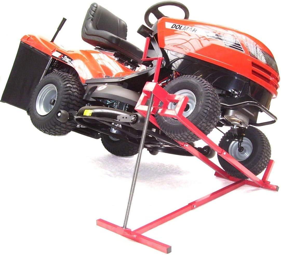 Elevador XXL para tractor cortacésped, 400 kg, elevador de limpieza, plataforma elevadora AWZ, ayuda de limpieza, herramienta de limpieza, cortadora de césped, rampa