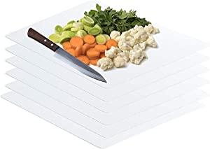 Frosted Clear Flexible Extra Thick Plastic Cutting Board Mat (12 x 18), Set of 6 by Sterling for Life