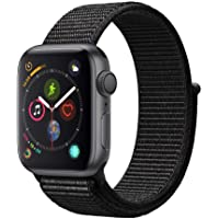 Apple Watch Series 4 40mm GPS Smartwatch with Black Sport Loop (Space Gray Aluminium Case)
