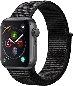 Apple Watch Series 4 40mm GPS Smartwatch with Black Sport Loop