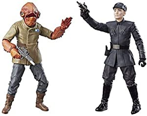 Star Wars The Black Series 6 Inch Admiral Ackbar and First Order Officer Action Figures (The Last Jedi)