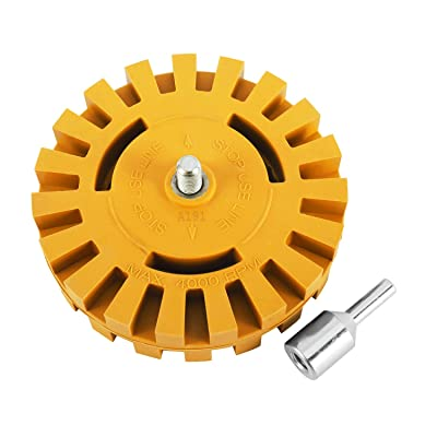 """4/"""" Car Boat Decal Removal Eraser Wheel Tool Set for Sticker Vinyl Decal"""
