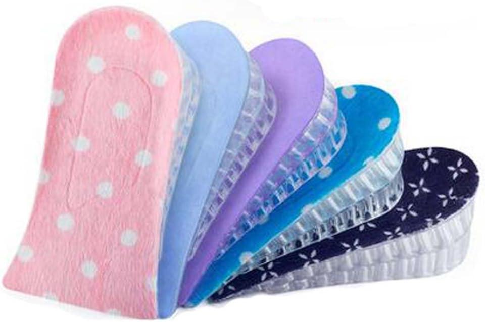 Rosa Set von 2 3-Layer 5cm H/öhe Erh/öhung Einlegesohle Schuhe Pad Silikon Pad